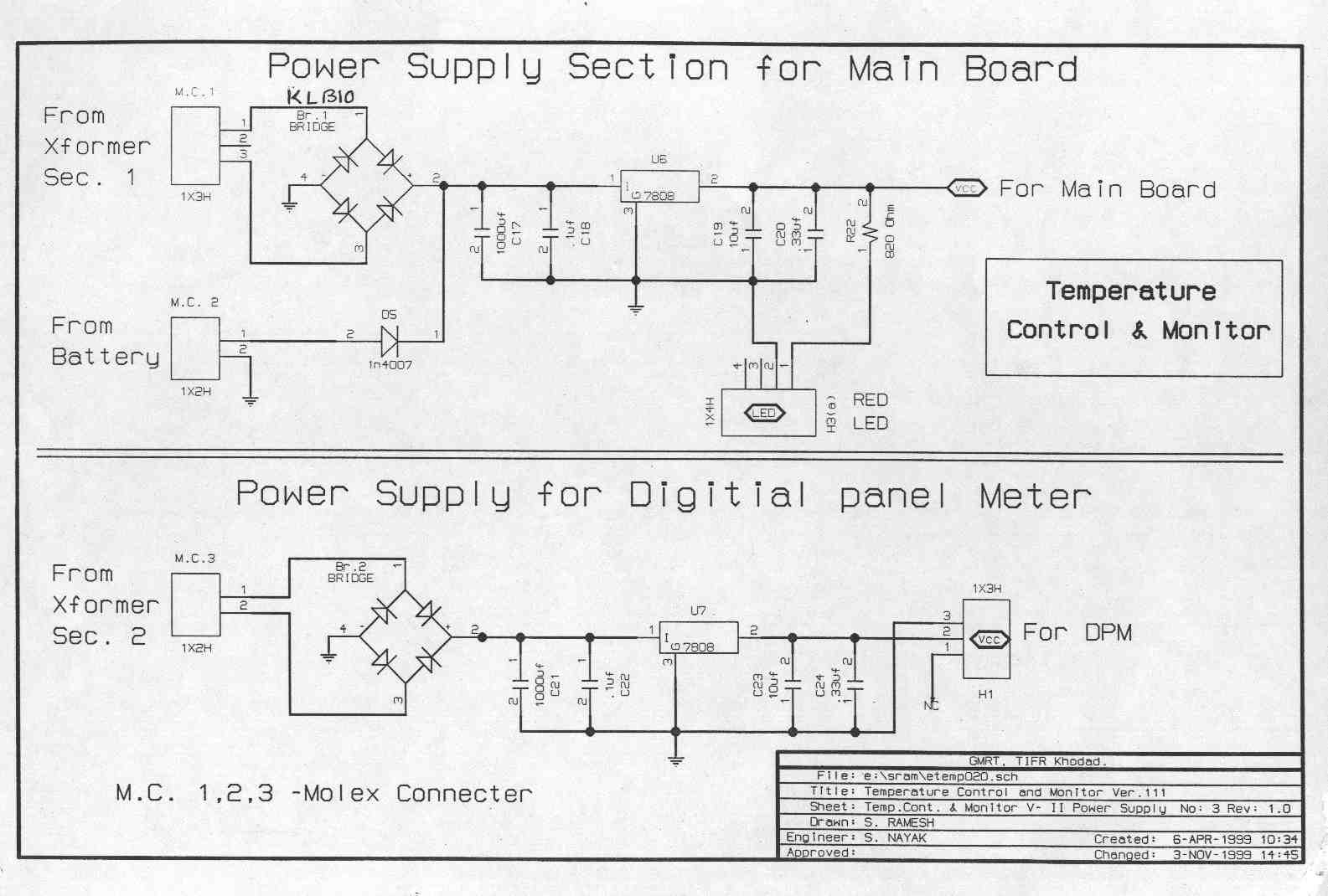 Temperature Controller And Monitor National Centre For Radio Wiring Diagram Circuit Diagrams Datasheets
